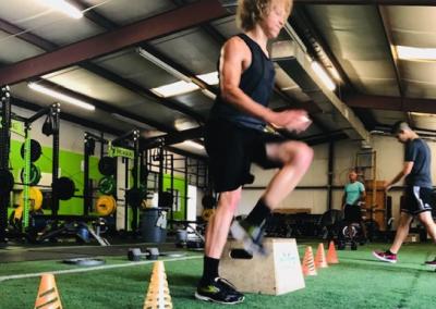 Athlete with Box